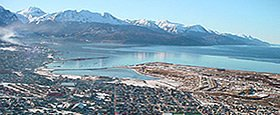 Overflight of Ushuaia